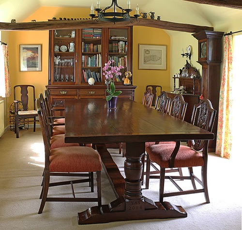 Early Oak Reproductions, Bespoke Oak Pedestal Dining Table