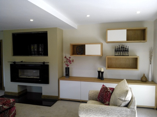 Contemporary style wall units