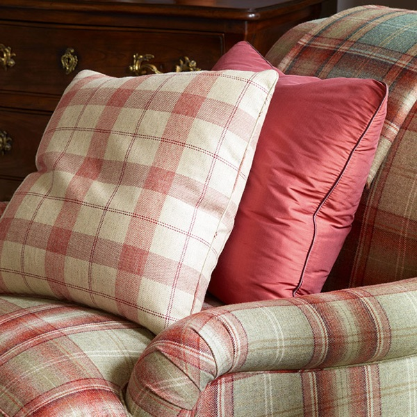 Colefax Finlay check and Nevis plaid