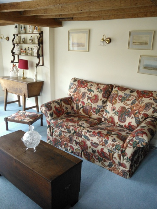 Customers own sofa, resized and recovered by our own upholsterers